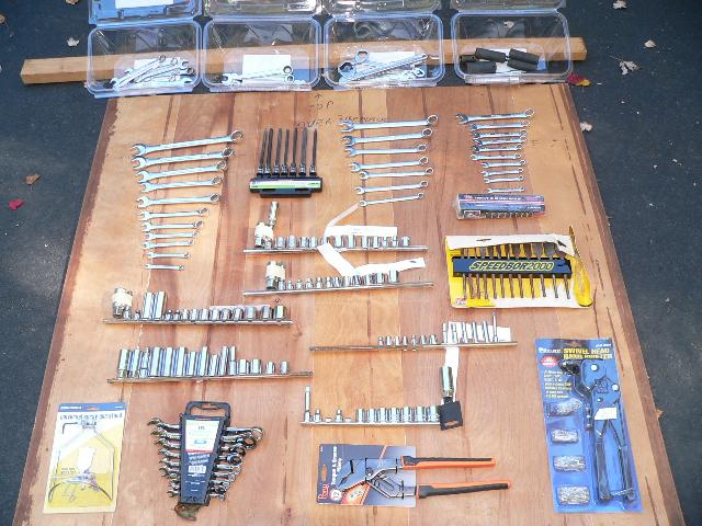 Sockets, Wrenches, Screw Driver Sets