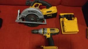 Dewalt 36V Li-ION Lithium Hammer Drill + Skillsaw Combo (Tulsa)