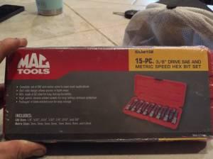 Mac 3/8 hex head sockets (Yuma)