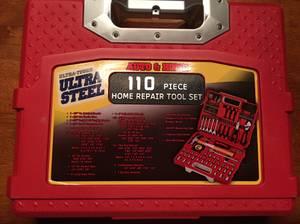 Home repair tool set (1 socket missing) (St. Simons Island)