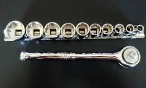 Brand New Standard Socket Set 12Pc -3/8 Inch Drive (Dayton)
