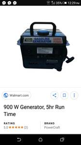 2 power craft 900 watt generators
