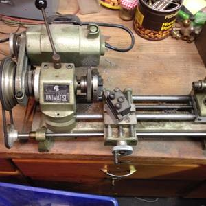 Small Hobby Lathe, Unimat Sl. Use as Lathe or Drill Press (West Rc)