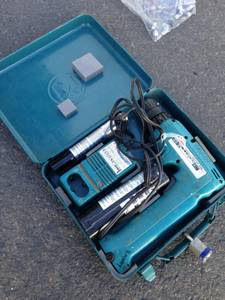 Classic Makita drill with metal case
