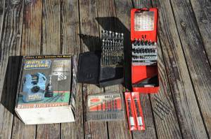 Drill bits and sharpener (Yakima)