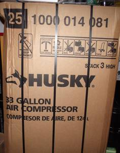 new husky 33 gallon air compressor (Columbus)