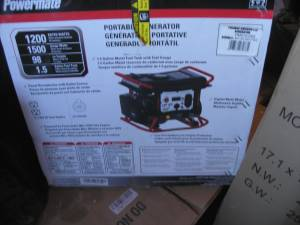 NEW IN BOX Generator 1500 Surge 1200 Contiuous