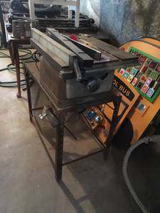 Antique craftsman table saw
