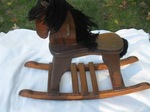 Wooden Rocking Horse (Marlboro)