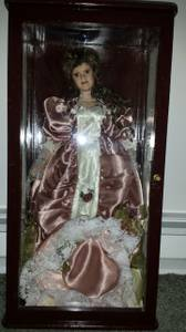 Porcelain Doll in Case with Hat (Wale)