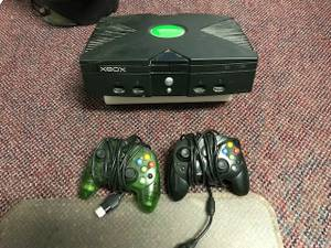 XBOX Original console with controllers (Weatherford)