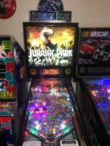 Refurbished Data East Jurassic Park arcade pinball machine (Bartlett)