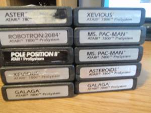 ATARI 7800 10 GAMES game cartridges (Southampton/Bucks County)