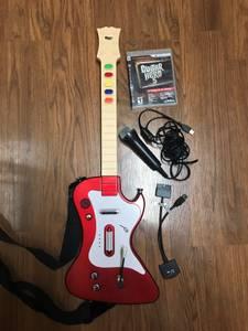 PS3 Guitar Hero 5 set with Guitar and Mic. (Gahanna/Columbus)
