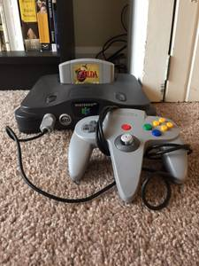 Nintendo 64 w/ Controller and Ocarina of Time Great Condition (Broad Ripple)