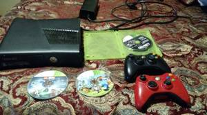 X box 360 2 controllers and games (Beloit)