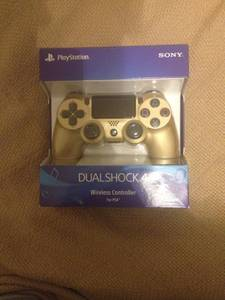 PS4 DualShock wireless controller Gold new in box