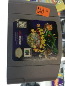 Rampage 2 universal tour n64 in excellent condition (garland, tx)
