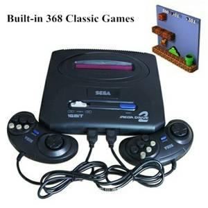 Sega Genesis Mega Drive 2 Video Game Console W/368 Games. U.S.
