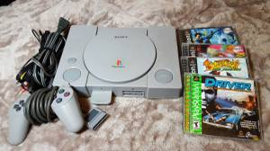 Playstation 1 PS1 System Console 4 games Great Condition! (Lakewood)