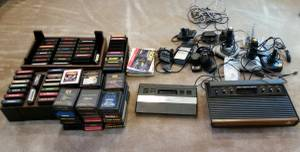 Huge Lot Of Atari Games, Instruction Manuals, Consoles & Controllers