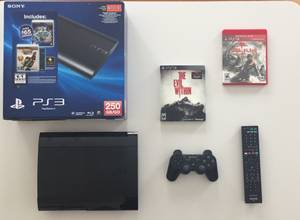 PS3 Super Slim Console with Games and Accessories (Troy)