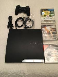PlayStation 3 PS3 Slim console with 3 games (East Boston)