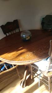 Oak claw foot table (Yakima)