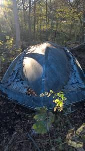 free old fiberglass boat (Marianna, Arkansas)