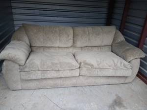 8' Beige Couch (2 scratches) (McFarland Pkwy)