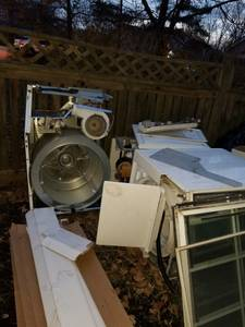 Free washer and dryer scrap metal