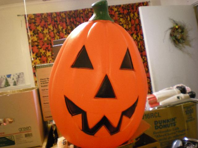 Plastic Light up Halloween Pumpkin