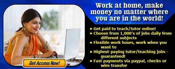 Highest-paying tutor/teaching jobs - guaranteed! Work at home, make money