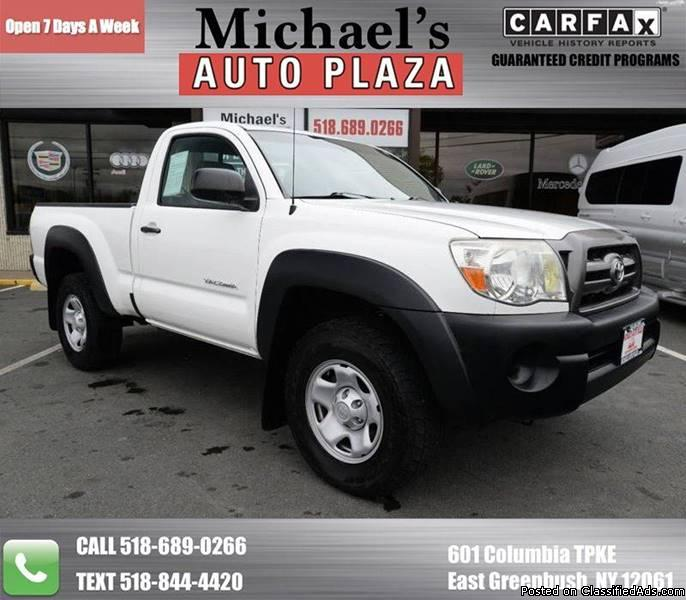 2010 Toyota Tacoma with a Clean Carfax, White with Gray Interior, 73k miles,...