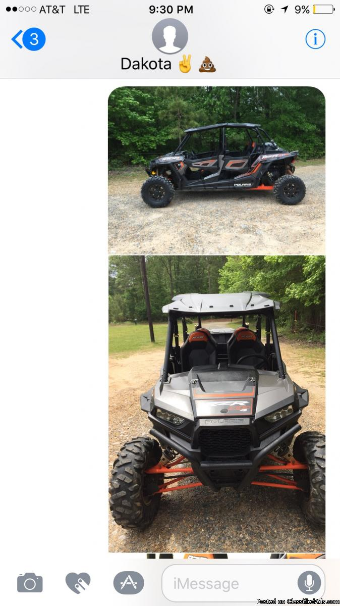 2014 Polaris 1000 4 seater Razor