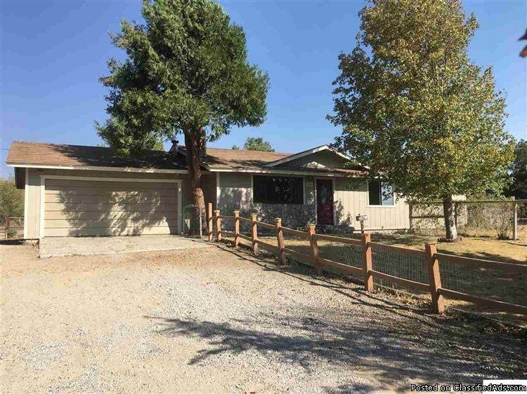 Washoe Valley 3 Bedroom 2 Bath Home On Almost An Acre  $299,900