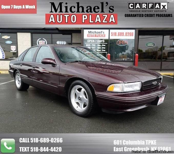 1995 Chevrolet Impala SS with a Clean Carfax, Maroon with Gray Leather...