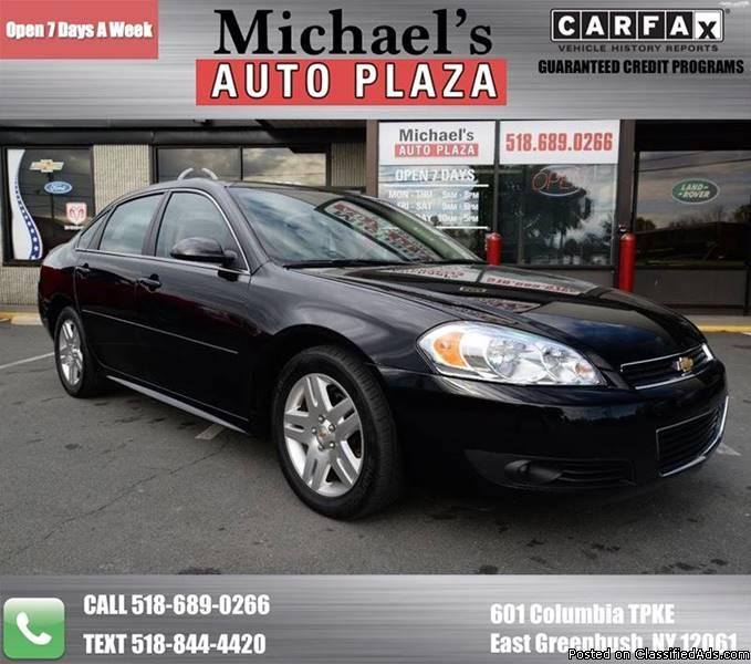 2011 Chevrolet Impala LT with a Clean Carfax, Black with Gray Interior, 81k...