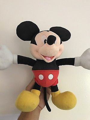 FISHER PRICE MICKEY MOUSE PULL STRETCH LAUGH ELECTRONIC PLUSH TOY 12 IN