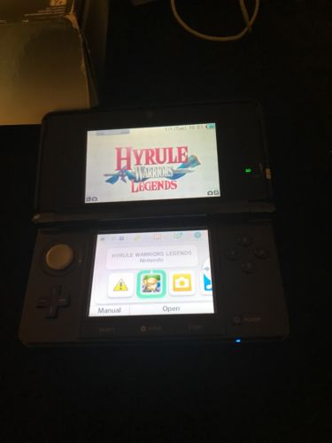 3ds Regular Cosmic Black Good Condition With Box And Manuals