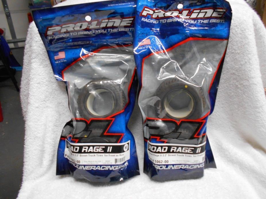 2 sets ProLine Road Rage II 2.2 Street Truck Tires Stadium Truck 1062-00 NEW