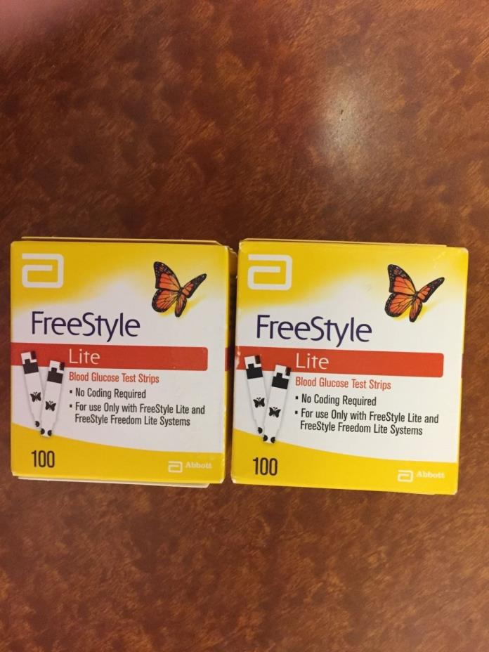 Freestyle Lite 200 count test strips exp 2018