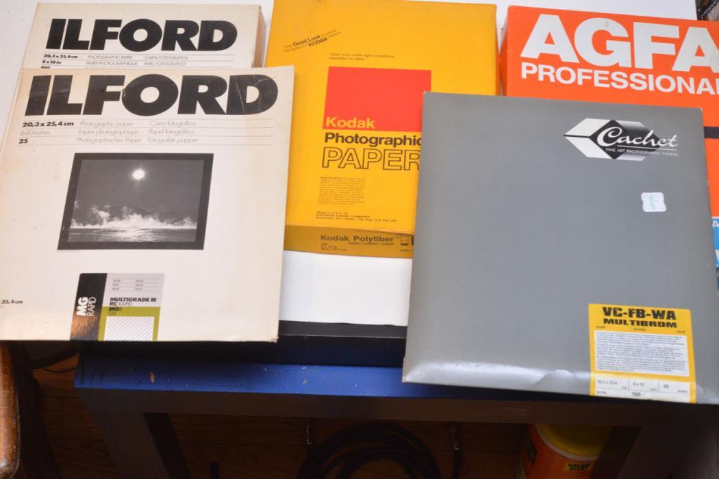 Mixed Lot 8x10  Photo Paper AGFA KODAK ILFORD CACHET Open and Sealed