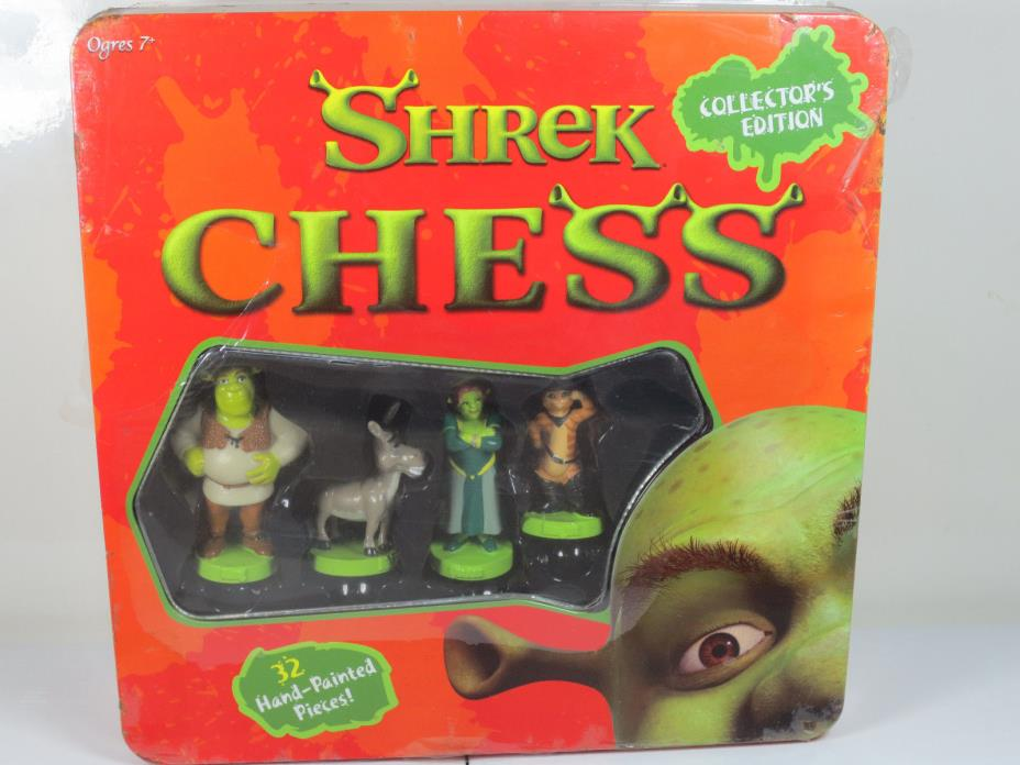 Brand New Shrek Chess Vintage Board Game USAopoly 32 Hand Painted Pieces