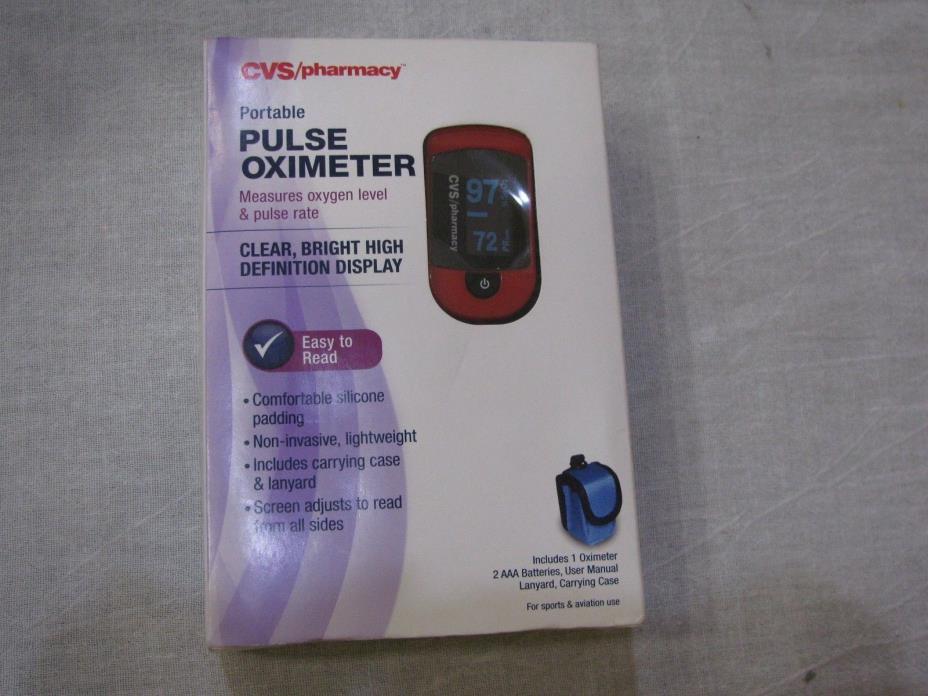 New CVS/pharmacy Portable PULSE OXIMETER Measures Oxygen & Pulse Rate