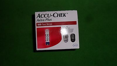 Accu-Check Aviva Plus Test Strips 100 Count Brand New Sealed Expires 04/30/2018