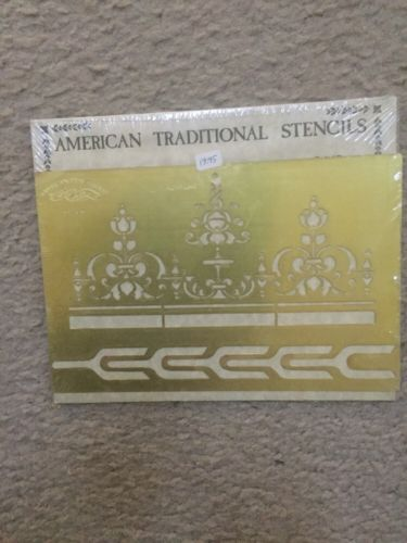 B80 VINTAGE AMERICAN TRADITIONAL STENCILS SOLID BRASS ST-528 Newly