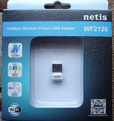 Netis WF2120 150Mbps Wireless N 802.11b/g/n USB 2.0 Adapter New Retail Package