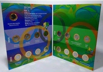 Album 16 Coins Collection Coins Olympic Games Rio 2016 Brazil