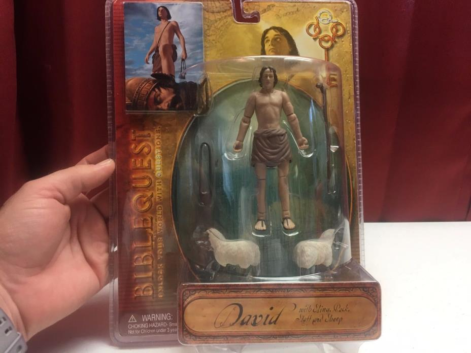 king david action figure bible quest christian toy
